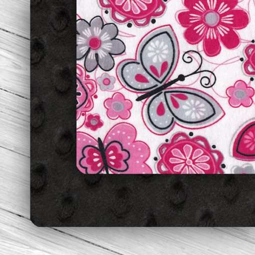 custom weighted blanket combo Butterfly /Black