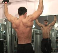 pull-ups shirtless man
