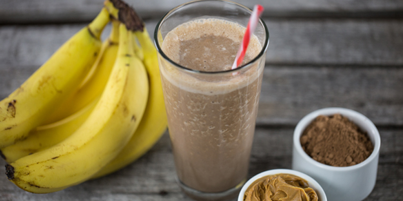 Image result for chocolate peanut butter banana smoothie