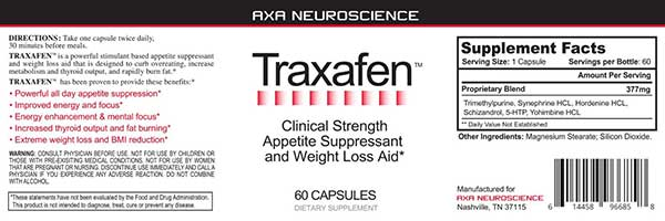 What is in Traxafen