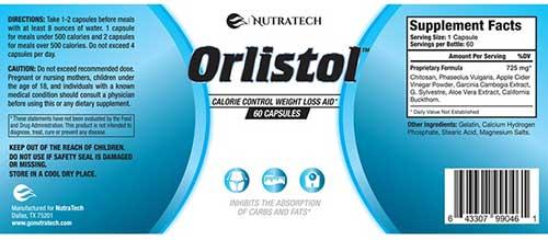 Orlistol Ingredients