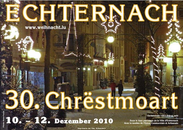 De Programm vum Eechternoacher Chrëstmoart 2010