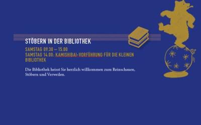 STÖBERN IN DER BIBLIOTHEK: Samstag 09.30 – 15.00, BIBLIOTHEK