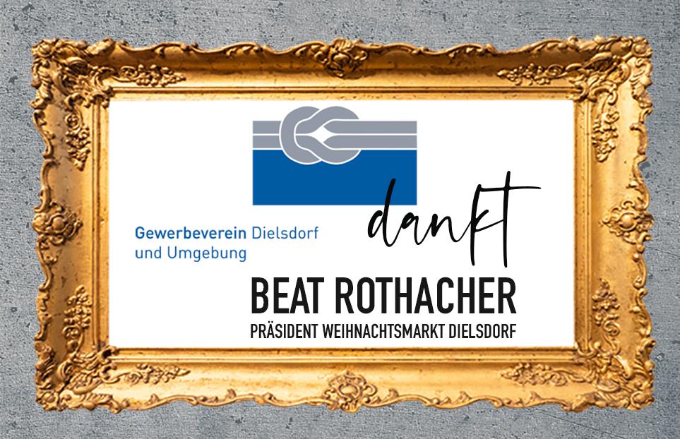 Gewerbeverein Dielsdorf dankt Beat Rothacher (Präsident des Weihnachtsmarktes Dielsdorf) und dem ganzen OK-Team!