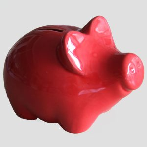 Spardose Keramik Rotes Schwein