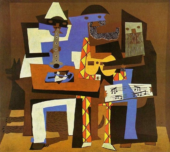 Image result for picasso three musicians