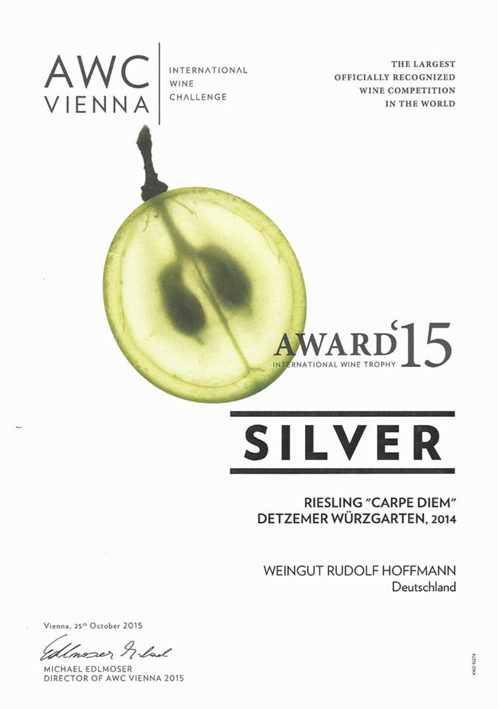 Silver Award 2015 for Carpe Diem