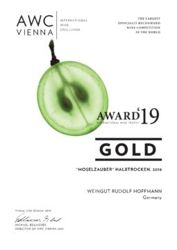 AWC Gold für Moselzauber Halbtrocken 2018