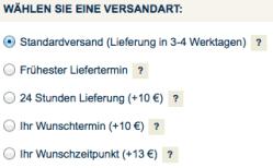 Die Versandoptionen bei Hawesko.de