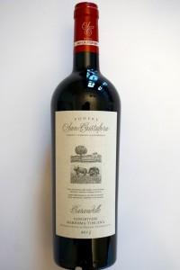 """Mitgenommen von Podere San Cristoforo: 2013 """"Carandelle"""" Sangiovese Maremma Toscana IGT"""