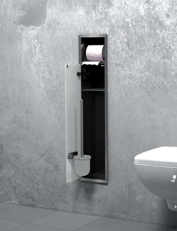 encastrer en inox fermee 800 pour wc