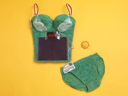 solar lingerie Solar Powered Bra: Turning Lingerie Green picture