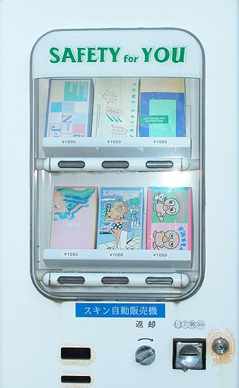 Machines condoms in candy