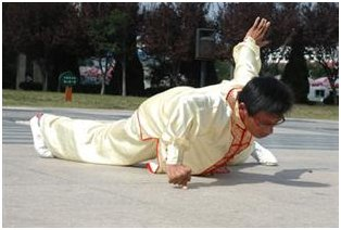 Fu Bingli's One-Fingered Pushup