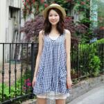 Sleeveless Check Dress