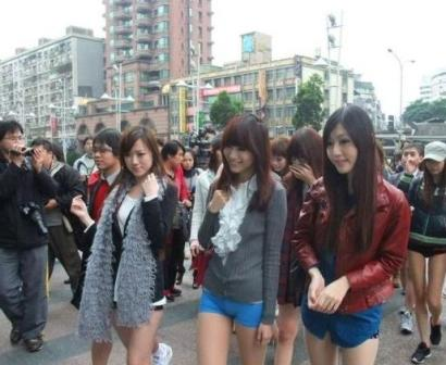 A Sexy Twist on No Pants Day in Taiwan