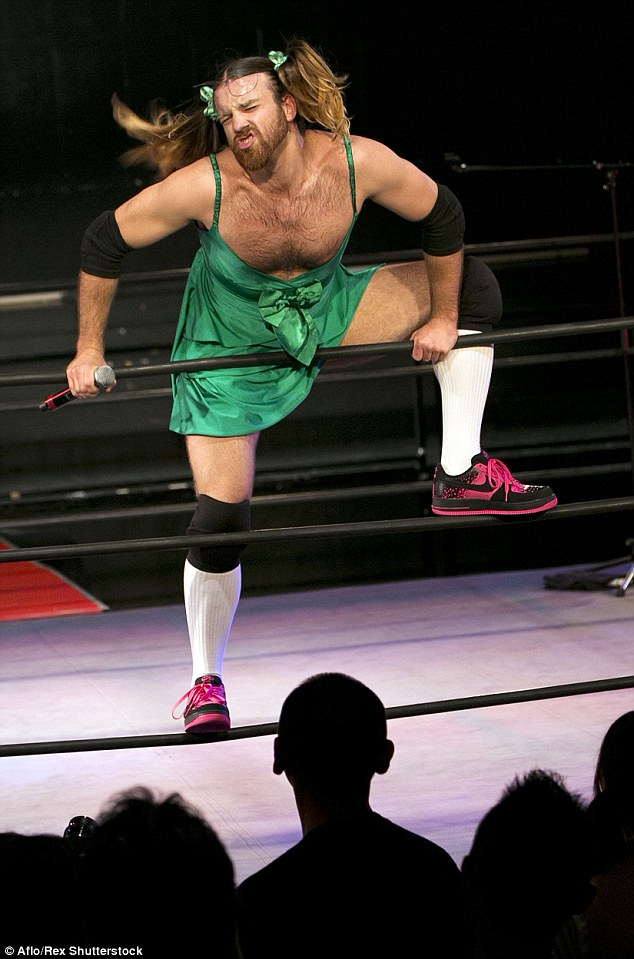 LadyBeard in the wrestling ring