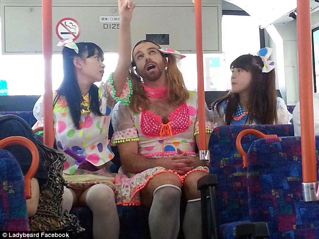 LadyBeard with the other two members of Ladybaby