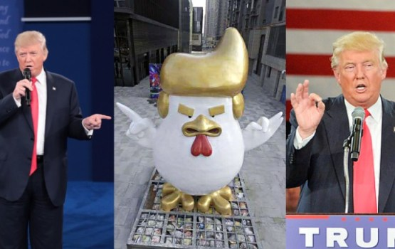 Massive Rooster Trump Statue Appears At Chinese Mall