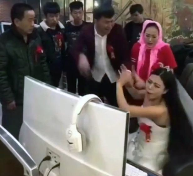 bride dragged altar china league of legends wedding