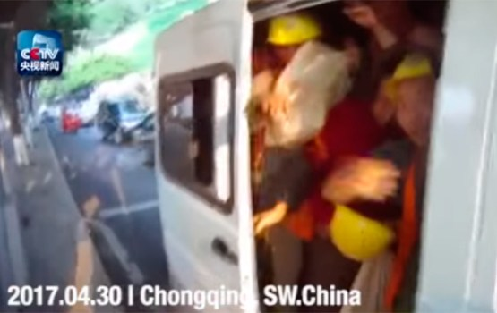 """Cops Pull Over """"Clown Car"""" Van With 40 People Crammed Inside"""