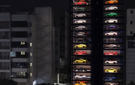 World's Largest Vending Machine Dispenses Luxury Automobiles