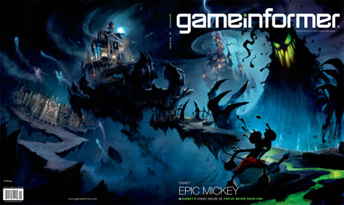 Epic Mickey Gameinformer cover