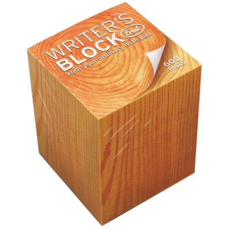 Writers Block notepad that looks like a block of wood. heh. classic.