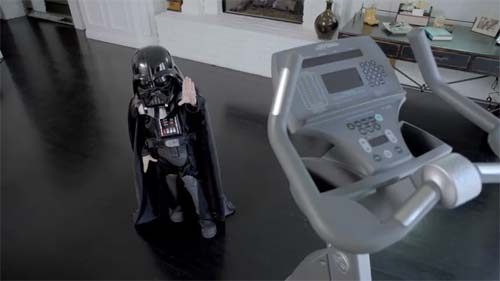 Darth Vader as a child in the VW Superbowl ad