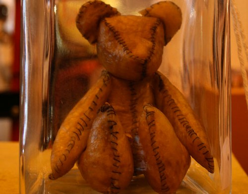 placenta teddy bear, fun for all the family. Right up 'til hospitalisation