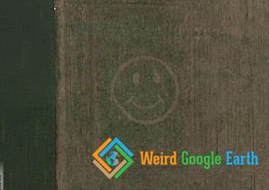 Smiley Face on a Field, Waynesville, Ohio, USA