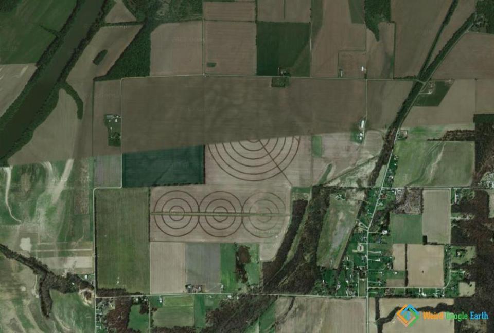Concentric Crop Circles, Covington, Indiana, USA