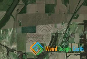 Concentric Crop Circles, Covington, Indiana, USA