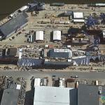 USS Zumwalt (DDG-1000) in the Shipyard, Bath, Maine, USA