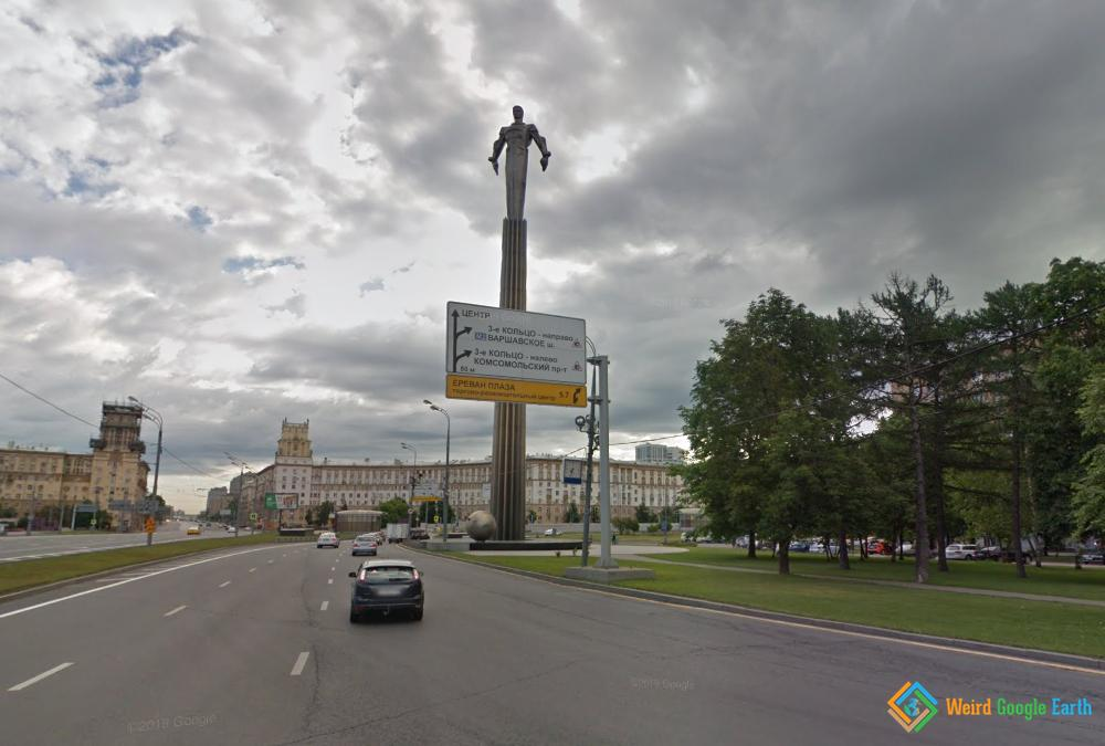 Monument of Yuri Gagarin, Moscow, Russia