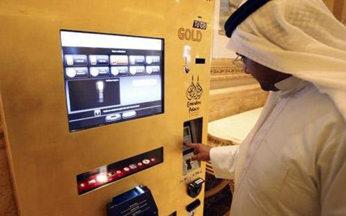 Abu Dhabi Emirates Palace hotel gold ATM
