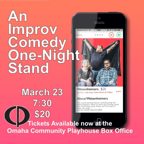 March 23 at Omaha Community Playhouse