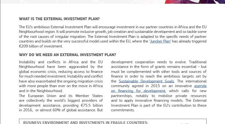 EU External Investment Plan