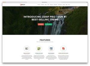 zerif-pro-creative website
