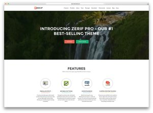 zerif-pro-creative website