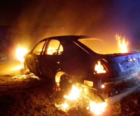 Напроспекте Обуховской обороны сгорела БМВ