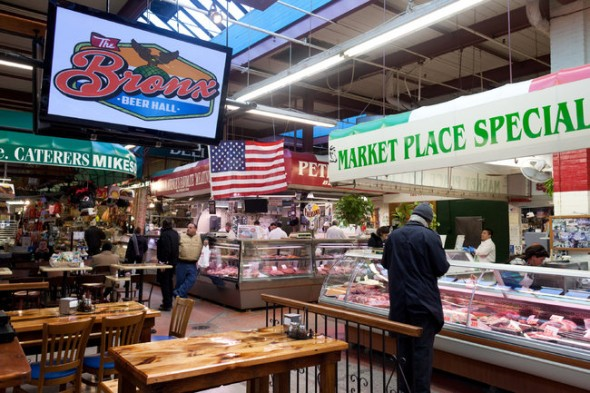 No trip to Belmont is complete without going to The Bronx Beer Hall in the heart of the Arthur Avenue Market / Image Credit: Richard Perry/The New York Times