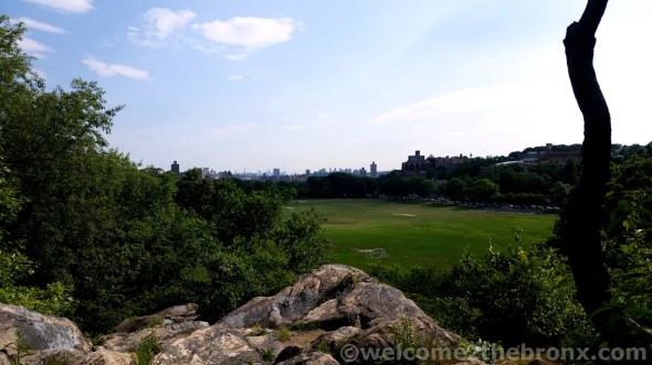 Atop Vault Hill you can overlook the Parade Ground, The Bronx and the New York City skyline.