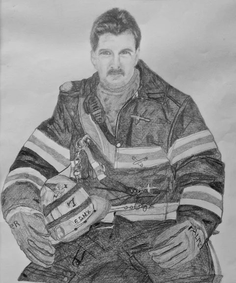 Chief Orio J. Palmer, pencil drawing by his mother, Mrs Agnes Palmer / Image Courtesy Cara Art Studio