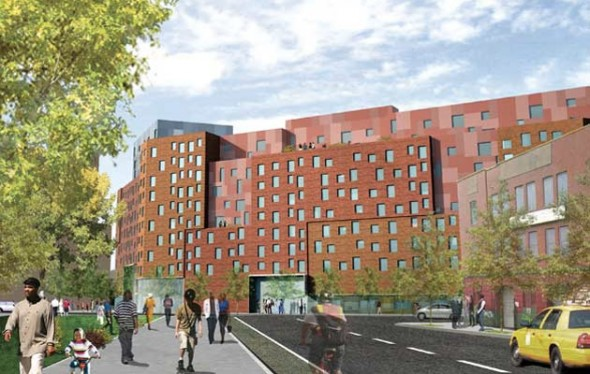Bronx Commons rendering and future home of Bronx Musical Heritage Center.