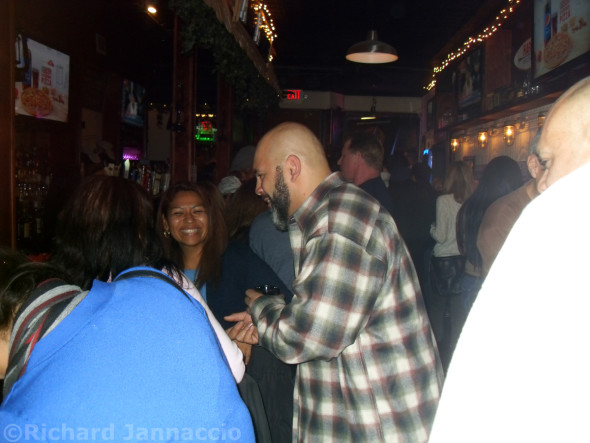 A glimpse of the Alehouse party crowd.