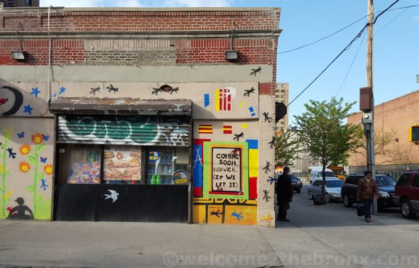 As seen in Mott Haven on 140th and Brook Avenue...a sign of things to come?