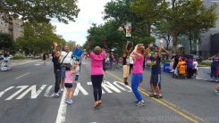 Dancing and getting fit at Boogie on the Boulevard this past Sunday, August 9th