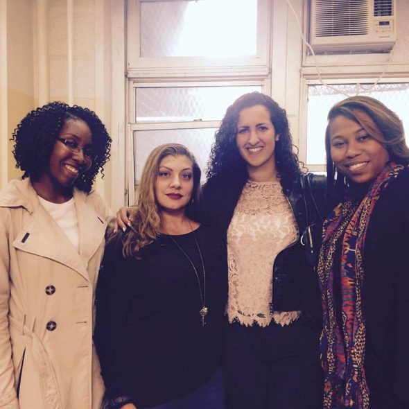 Bronxite Jani Rose (2nd from left) is one of Young Women Rock! mentors.