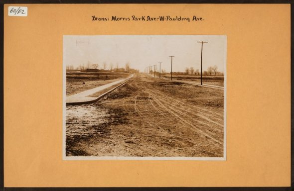 """Irma and Paul Milstein Division of United States History, Local History and Genealogy, The New York Public Library. """"Bronx: Morris Park Avenue - Paulding Avenue"""" The New York Public Library Digital Collections. Spring 1913"""